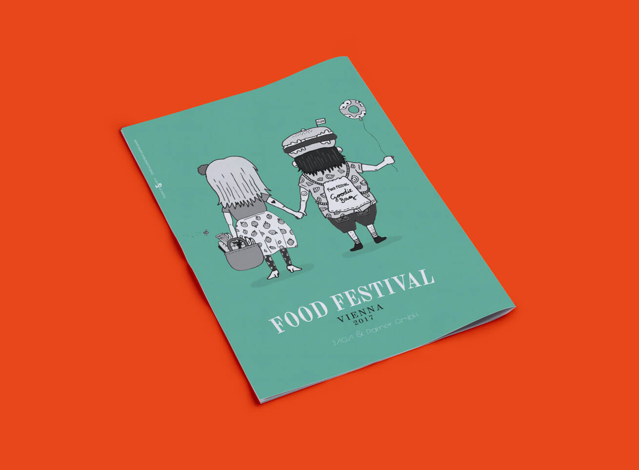 Food Festival Broschüre Grafikdesign