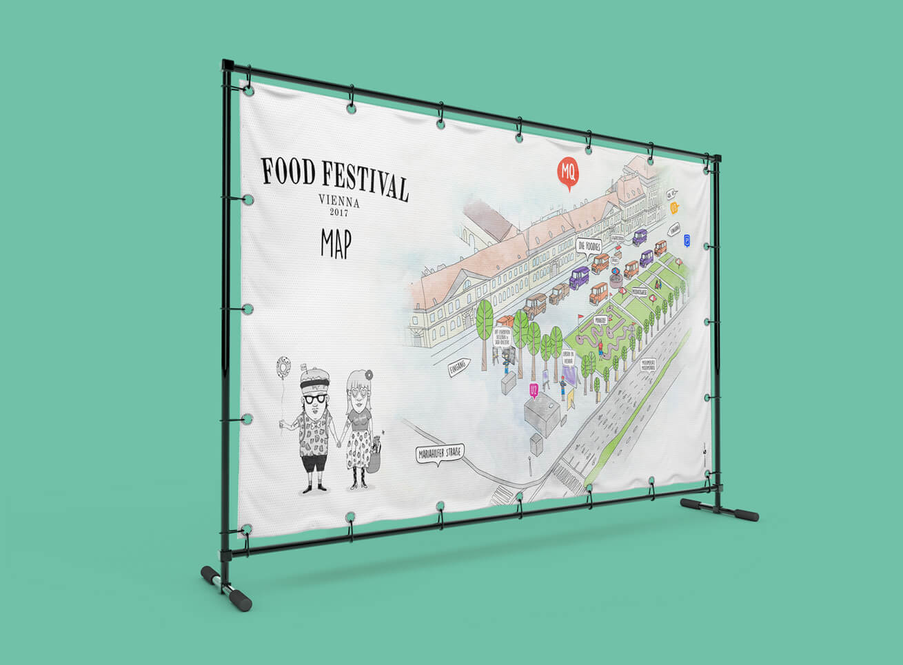 Food Festival Plan Speisekarte Grafikdesign