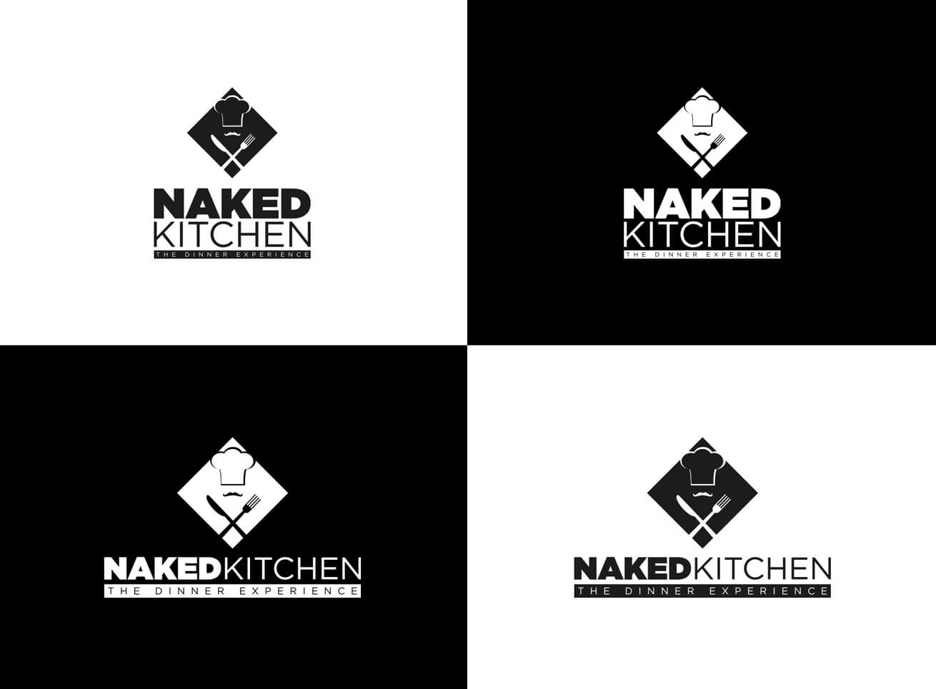 NakedKitchen Logo Grafikdesign
