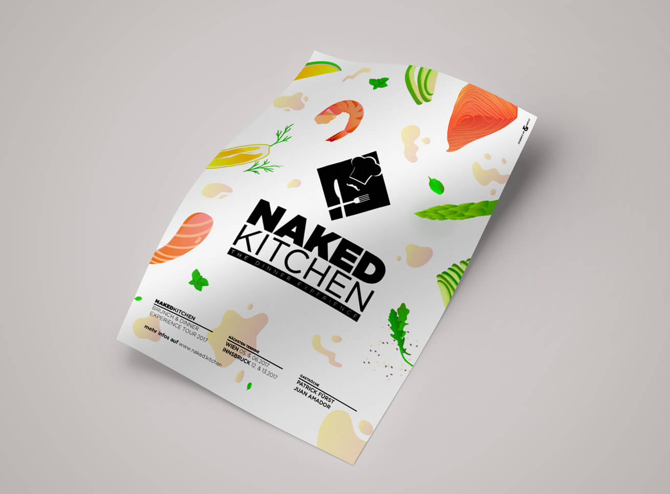 NakedKitchen Flyer Grafikdesign