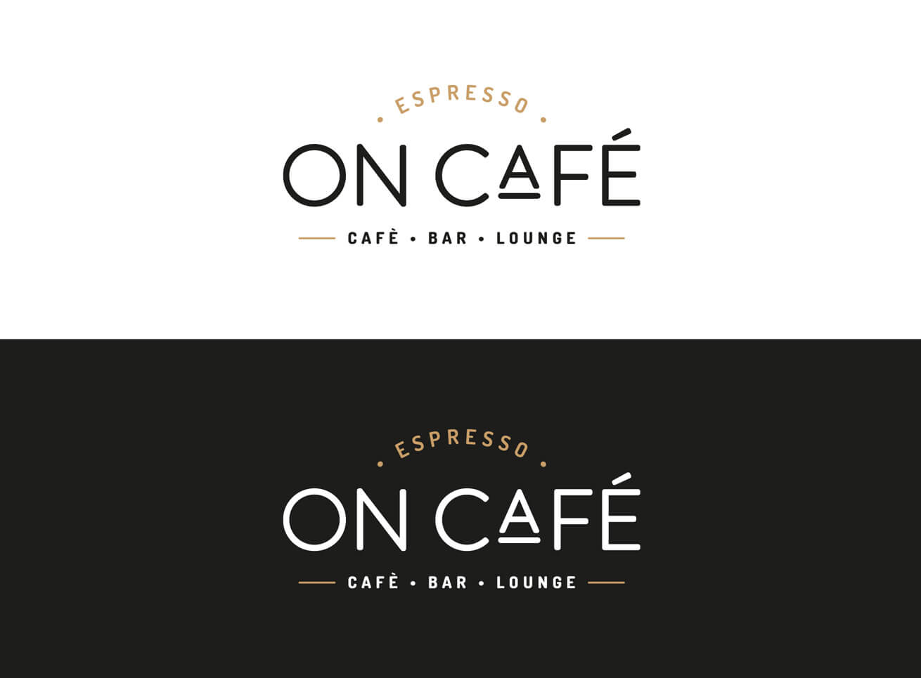 On Café Logo Grafikdesign