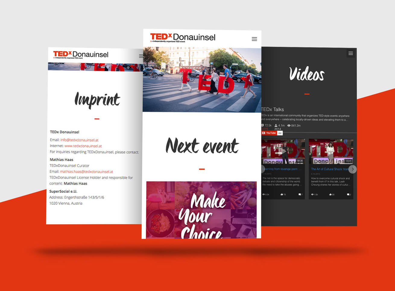 TEDx Web Grafikdesign