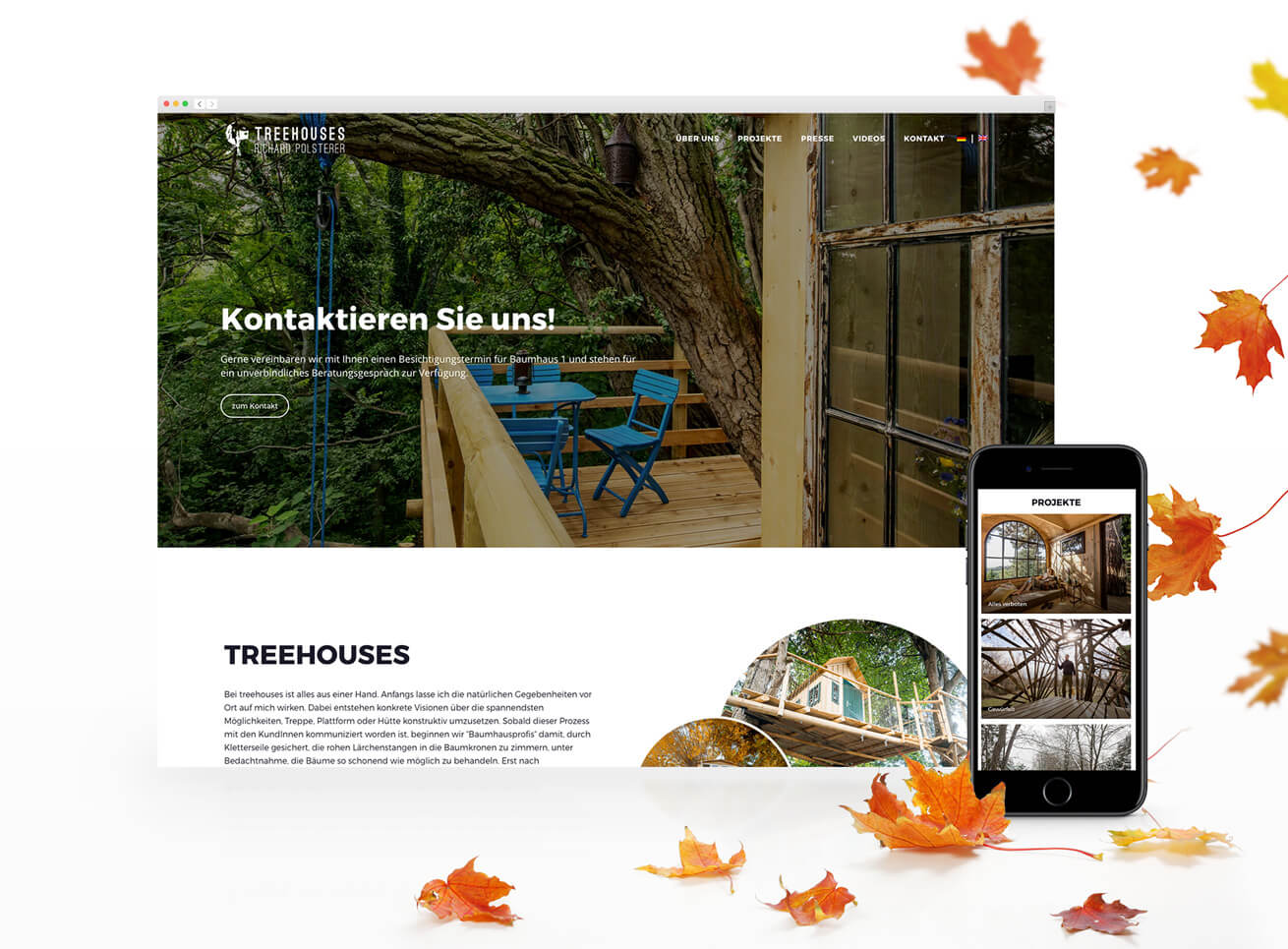 Treehouses Web Grafikdesign