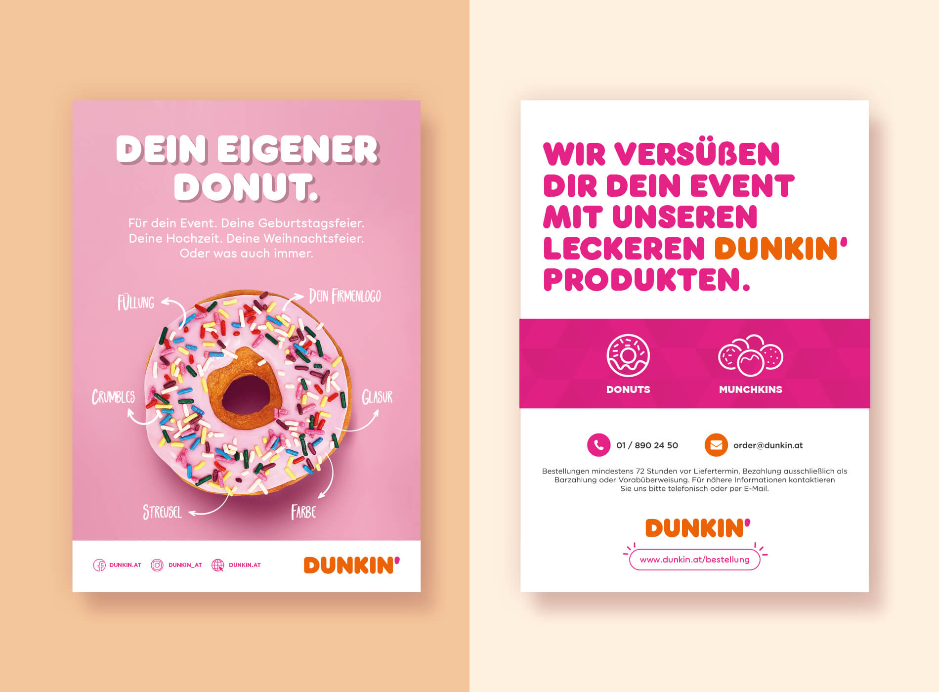 Dunkin Donuts Flyer Grafikdesign