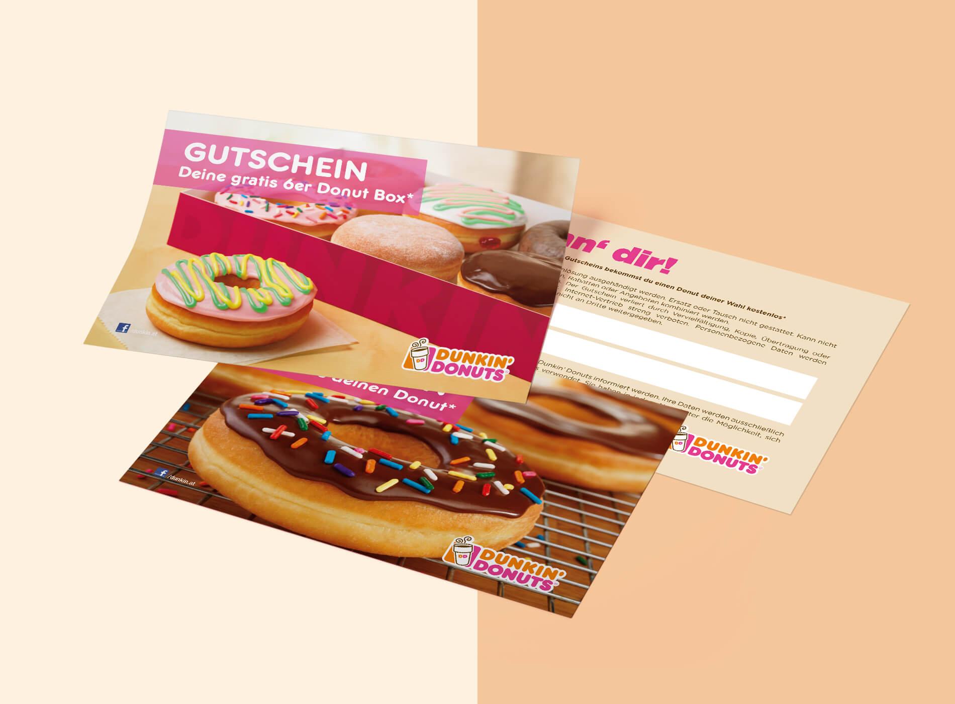 dunkin donuts gutschein