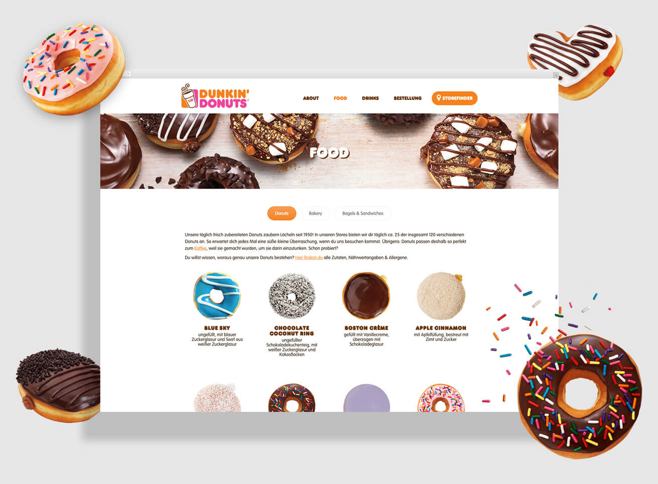 Dunkin Donuts Website Webdesign