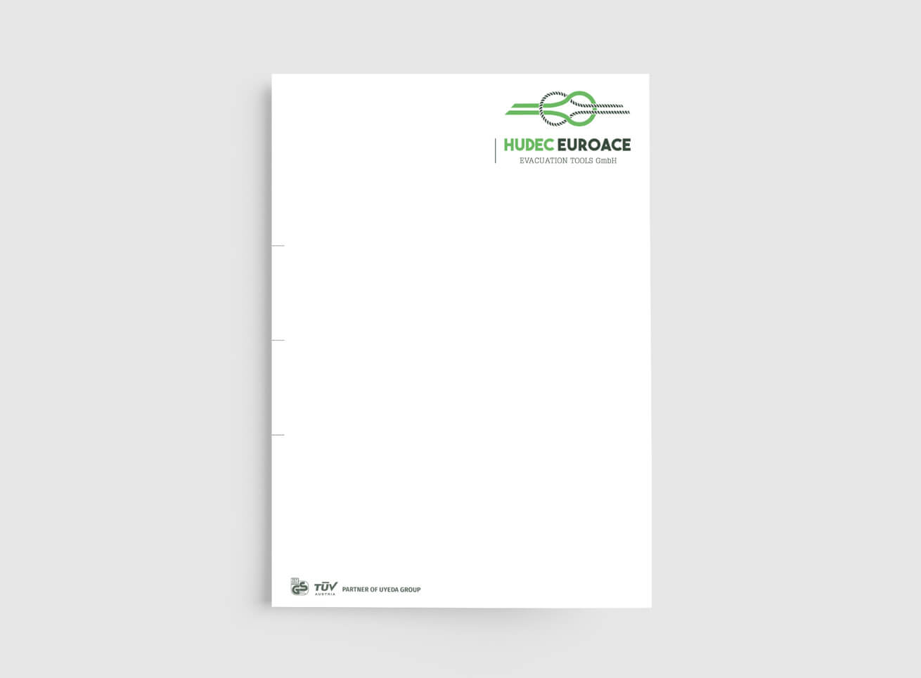Hudec Euroace Briefpapier Grafikdesign