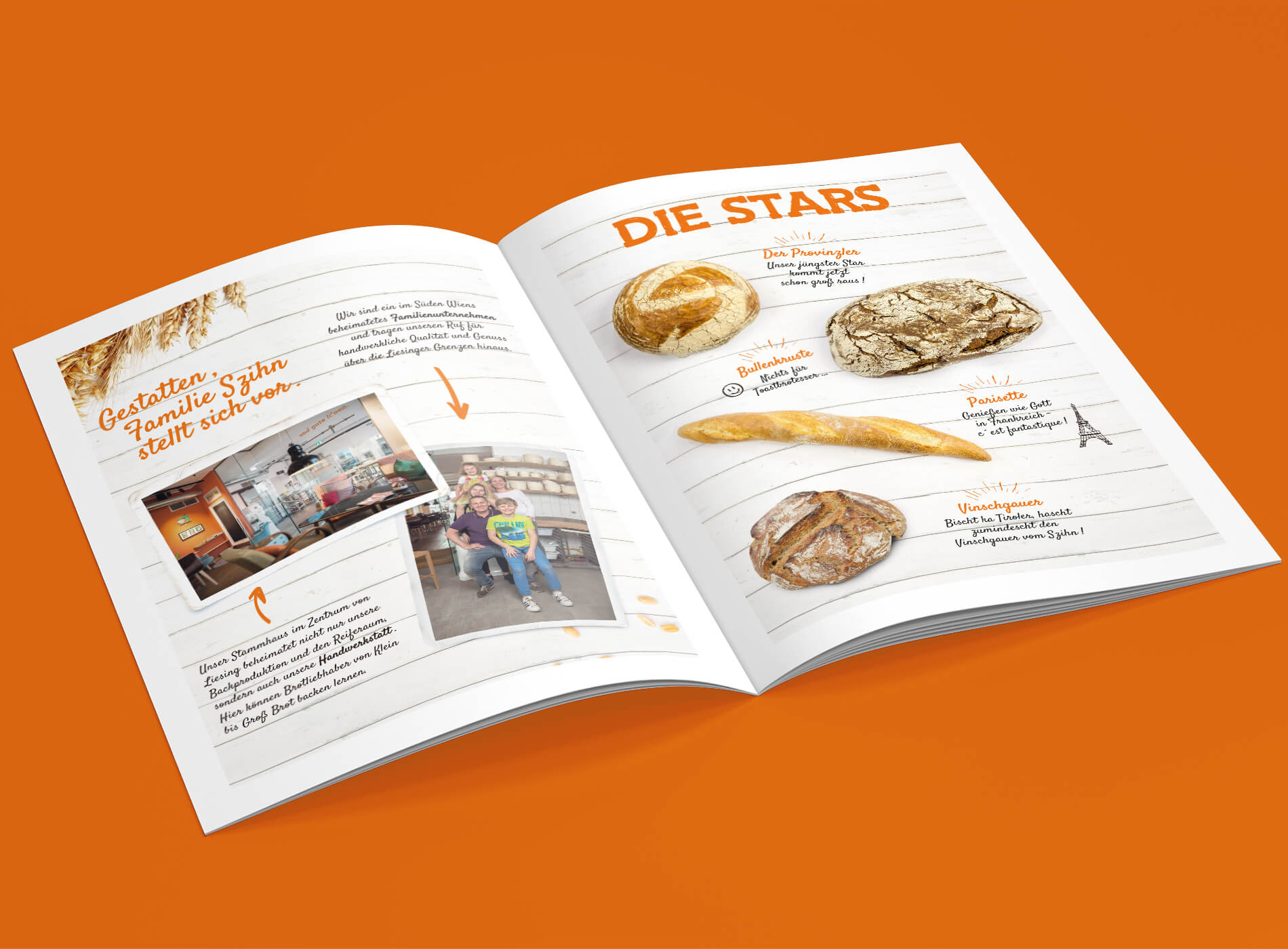Szihn Bäckerei Folder Grafikdesign