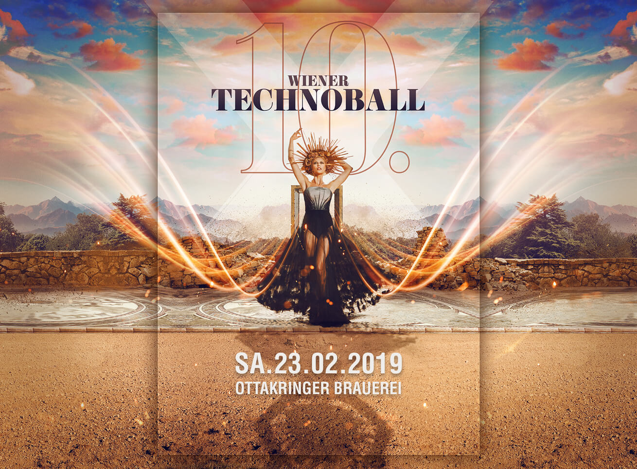 Wiener Technoball Poster Grafikdesign