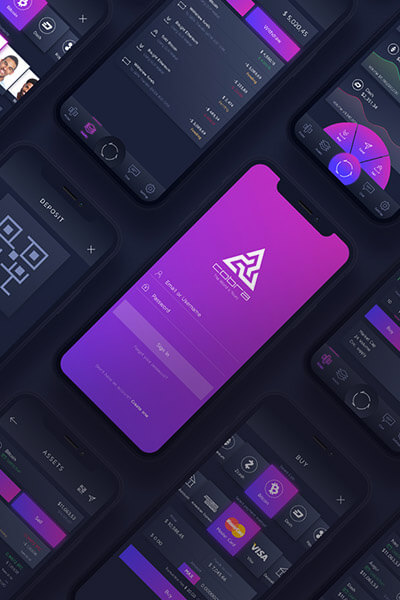 Cobra App UI Graphicdesign